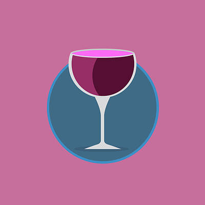 Pink Icon Of The Wine Poster