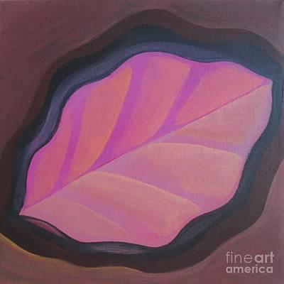 Pink Leaf Poster