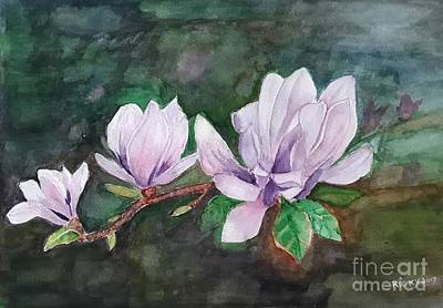 Pink Magnolia - Painting Poster
