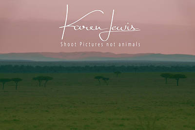 Poster featuring the photograph Pink Mara Dawn by Karen Lewis