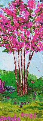 Pink Myrtle Poster by Angela Annas