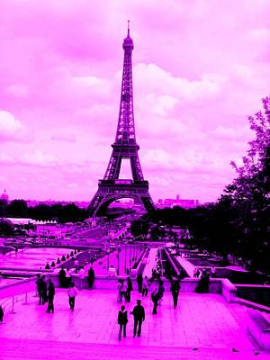 Poster featuring the photograph Pink Paris by Michelle Dallocchio