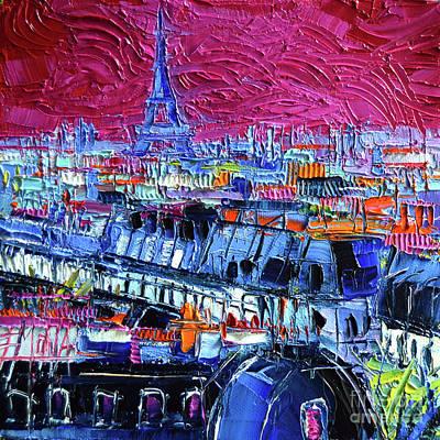 Pink Paris Poster by Mona Edulesco