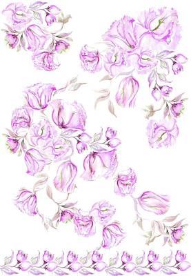 Pink Peonies Poster by Sandrine Kespi