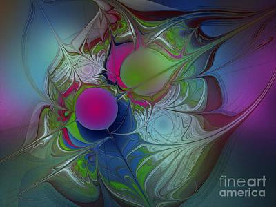Pink Ping Pong Ball Poster by Karin Kuhlmann