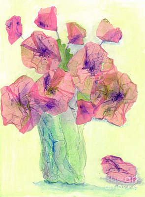 Pink Poppies Poster by Veronica Rickard