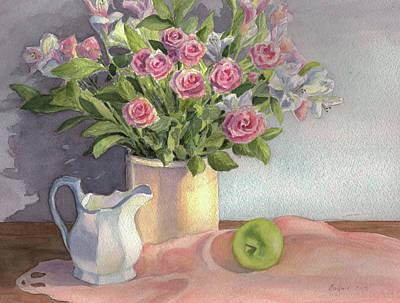 Pink Roses Poster by Vikki Bouffard