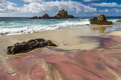 Pink Sand Beach In Big Sur Poster
