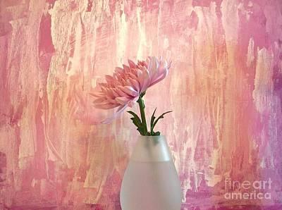 Pink Silk Poster by Marsha Heiken