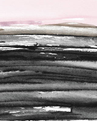 Poster featuring the mixed media Pink Sky Horizon- Art By Linda Woods by Linda Woods