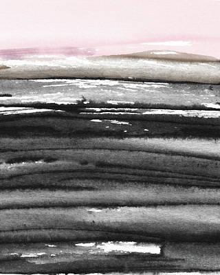 Pink Sky Horizon- Art By Linda Woods Poster