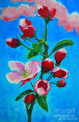 Poster featuring the painting Pink Spring by Ana Maria Edulescu