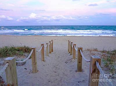 Pink Sunrise Beach Treasure Coast Florida C6 Poster