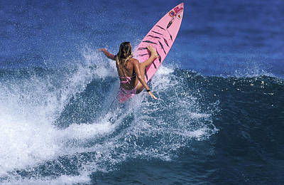 Pink Surfer. Poster by Sean Davey
