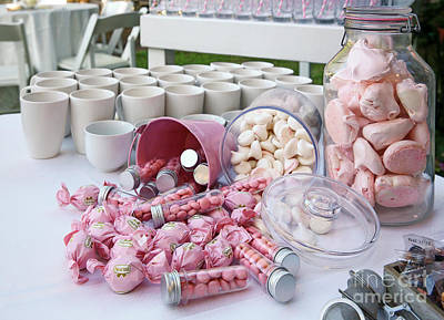 Pink Sweets And Candy Buffet  Poster by PhotoStock-Israel