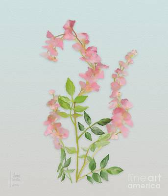 Poster featuring the painting Pink Tiny Flowers by Ivana Westin