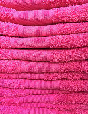 Pink Towels Poster by Tom Gowanlock