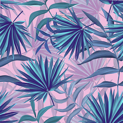 Pink Tropic  Poster by Mark Ashkenazi