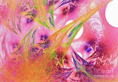 Poster featuring the digital art Pink Web by Deborah Benoit
