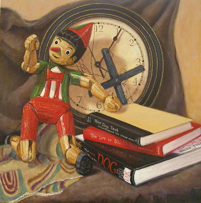 Poster featuring the painting Pinocchio by Donelli  DiMaria