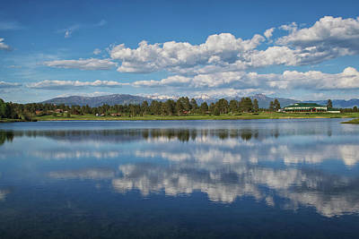 Pinon Lake Reflections Poster