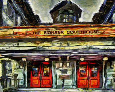 Pioneer Courthouse Pdx Poster