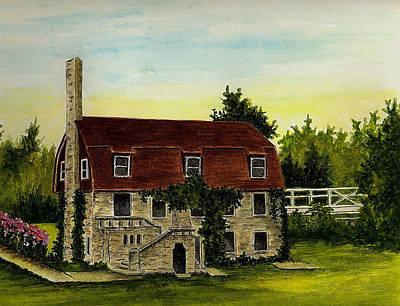 Pioneer Pavilion - Mill Creek Park Poster by Michael Vigliotti