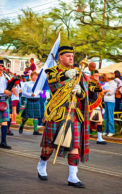 Pipe Major - Paint Poster