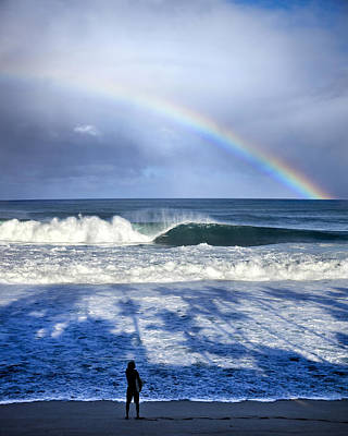 Pipe Rainbow Palms Poster by Sean Davey