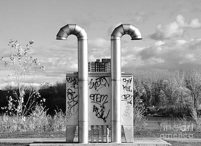 Pipes On The River Poster