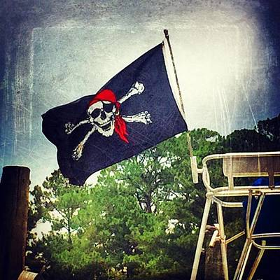 Pirate Flag #boating #msgulfcoast Poster