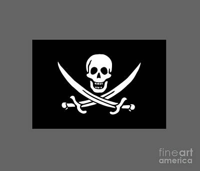 Pirate Flag Of Jack Rackham Poster by Frederick Holiday