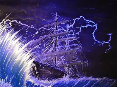 Pirate Ship  Poster by Hank  Bufkin