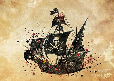 Pirate Ship Print 4 Poster by Svetla Tancheva
