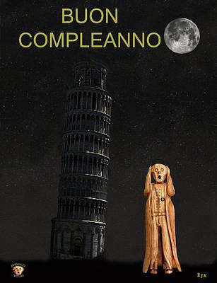 Pisa The Scream World Tour Happy Birthday Italian Poster
