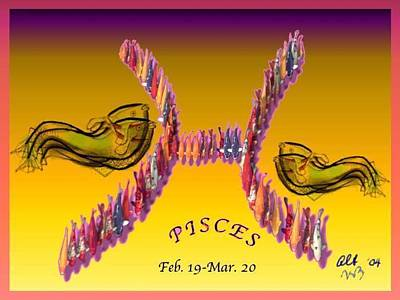 Poster featuring the painting Pisces by The Art of Alice Terrill