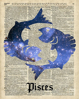 Pisces  The Fish  Zodiac Sign Poster by Jacob Kuch