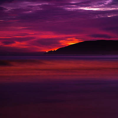 Poster featuring the photograph Pismo Beach On Fire - California - Usa by Gregory Ballos