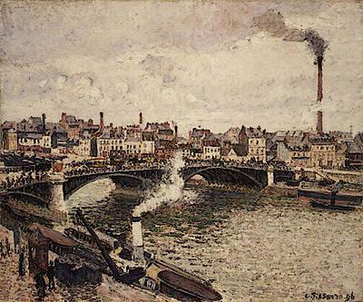 Pissarro Morning An Overcast Day Rouen  Poster