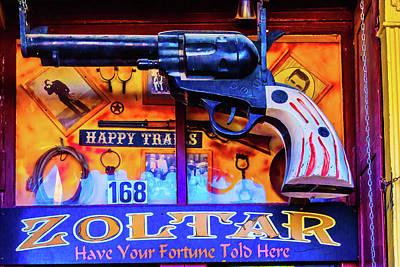 Pistol Gun Sign Poster by Garry Gay