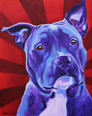 Pit Bull - Shakti Poster by Alicia VanNoy Call