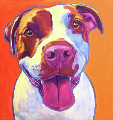 Pit Bull - Gemma Poster by Alicia VanNoy Call