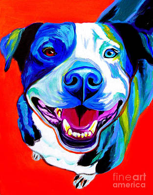 Pit Bull - Grin Poster by Alicia VanNoy Call