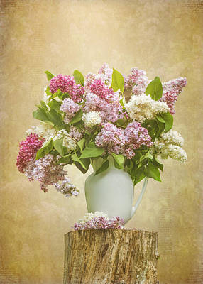 Pitcher Of Lilacs Poster by Patti Deters