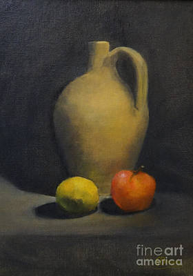Poster featuring the painting Pitcher This by Genevieve Brown