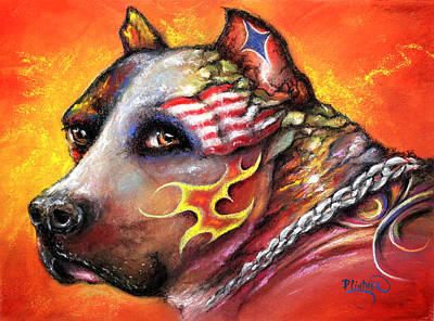 Pit Bull Poster by Patricia Lintner