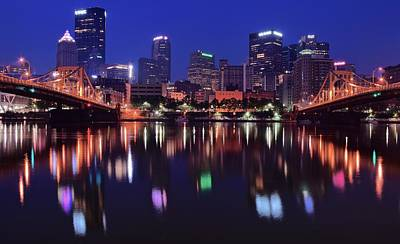 Pittsburgh Blue Hour Poster by Frozen in Time Fine Art Photography