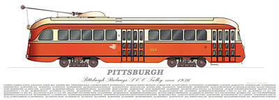 Pittsburgh Pcc Trolley Circa 1936 Poster by Carlos F Peterson