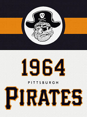 Pittsburgh Pirates 1964 Media Guide Poster by Big 88 Artworks