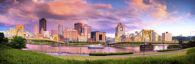 Pittsburgh Skyline After The Storm  Poster